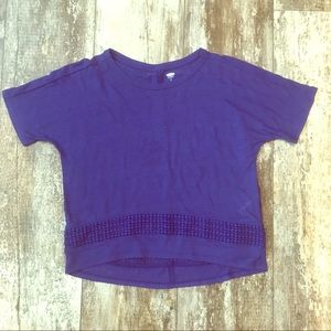 OLD NAVY SIZE 8 (M) GIRLS NAVY LOOSE BLOUSE